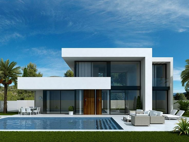 361 best villas images on pinterest minimalist house for Modern minimalist villa