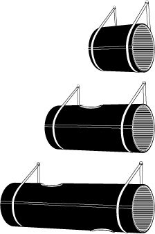 DIY THESE Designer wall barrel for cats... instead of $$$, Think =$7.25= QUIKRETE QUIK-TUBE 10-inch Building Form/Tube (Item #: 179135 | Model #: 692202) :: :: Just carpet/felt it/faux fur'it. Any kind of straps; cloth, leather :: :: Thinking of upholstering the Inside for a vertical climb, perhaps starting-out and/or going-to horizontal tubes... Heck you could get all crazy & wind up with a Cat'stle:p (term coined here, & probably independently rampantly everywhere else:)