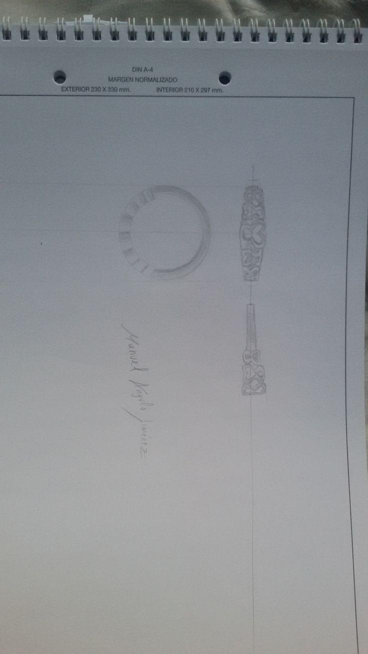 EJERCICIO 1 Alzado, planta y perfíl del anillo