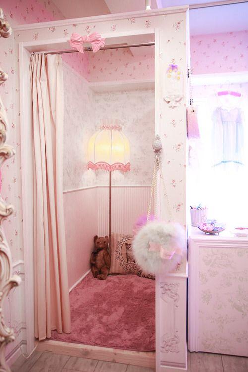 that s a good idea o turn a closet or something into a small room kawaii bedroom ideas