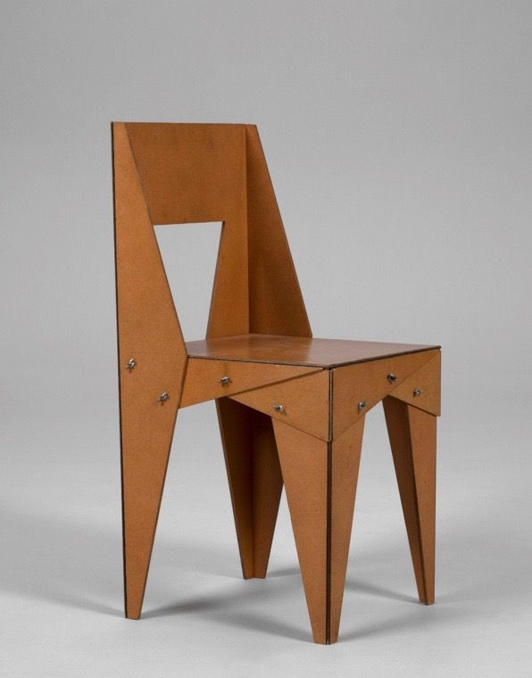 Jasper Morrison; Hardboard 'Wing-Nut' Chair, 1985.