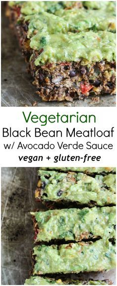 A meatless black bean 'meatloaf' packed with spices, cilantro, corn and topped with the creamiest 3-ingredient sauce. Vegan, gluten free and SO filling.