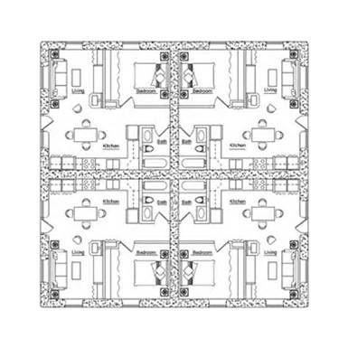 Earthbag building fourplex plan earthbag tiny space for Cost to build fourplex