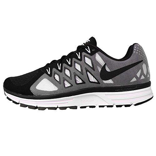 Nike Men\u0027s Zoom Vomero 9, BLACK/BLACK-WHITE-REFLECT SILVER, 8