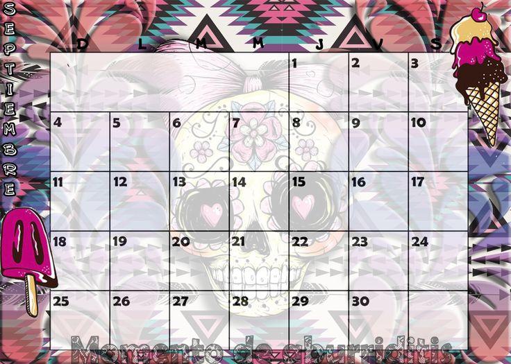 Calendario mensual #2016 - #Septiembre / #Monthly #Calendar #September