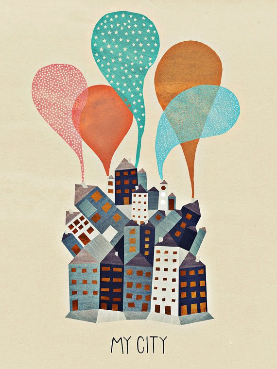 My City  poster by MichelleCarlslund on Etsy, €26.00