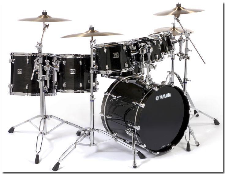 Yamaha Drum Set Black Freaking Awesome!