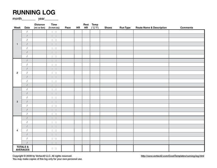 running log template