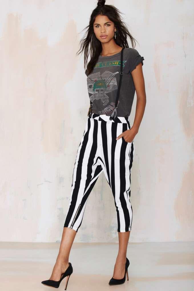One Teaspoon Le Player Suspender Pants strut your stripes