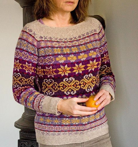 My own sweater. Pattern from Torirot.