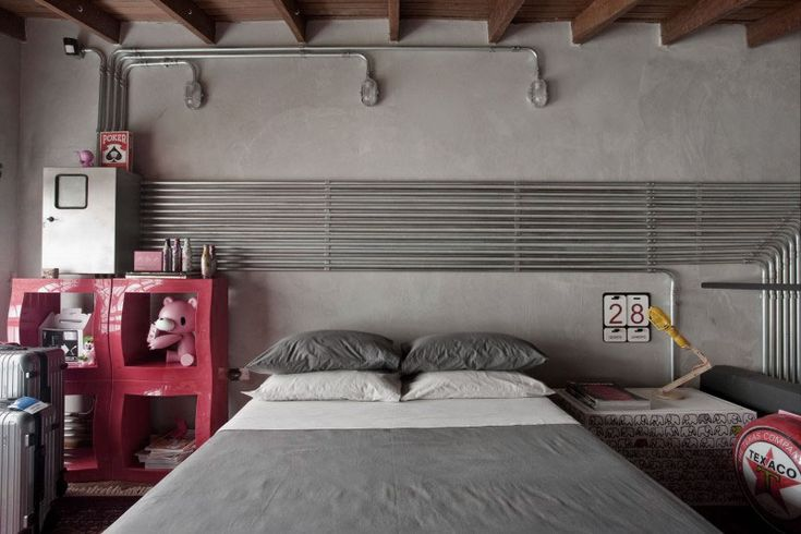 Awesome-Industrial-Bedroom-Design-Ideas-with-Concrete-Wall-and-Wooden-Ceiling.jpg (800×533)