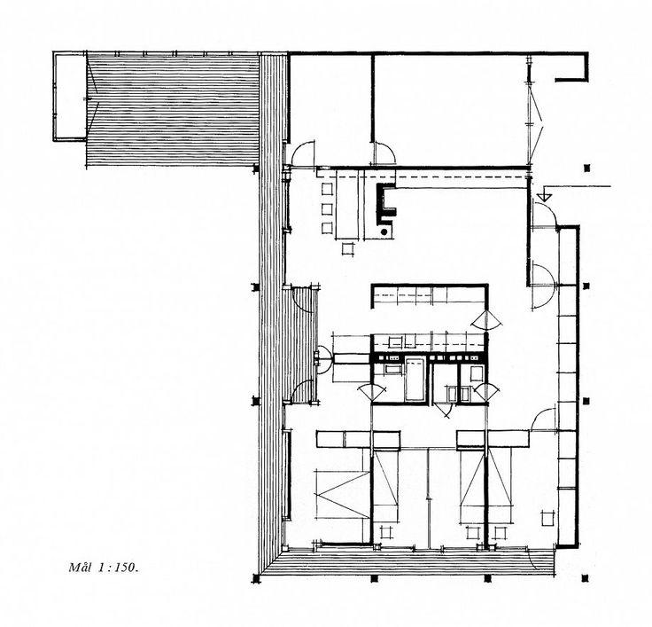 Villa Schreiner 1963 Ground Floor Plan Scale 1 150