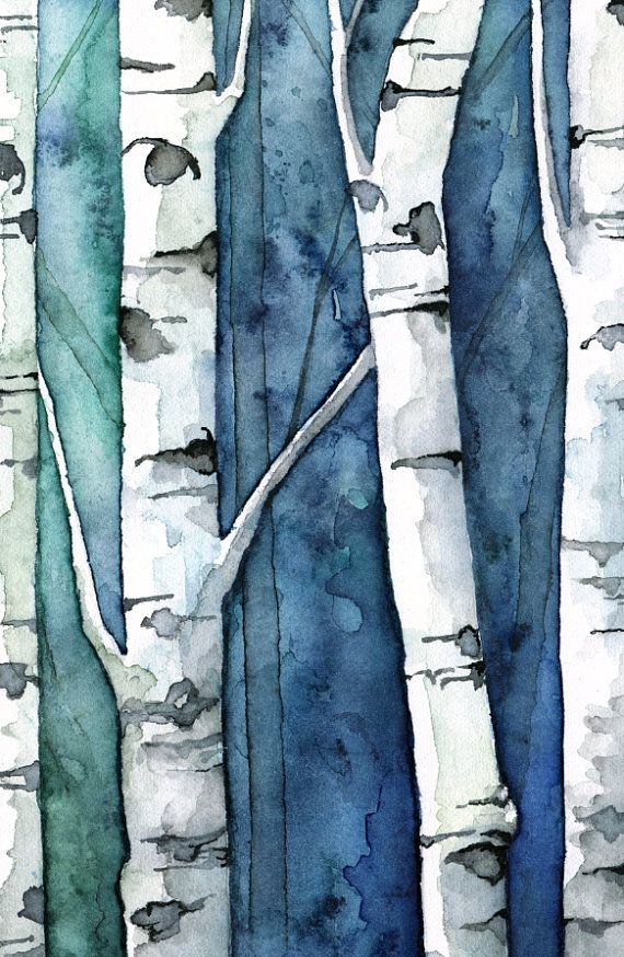 This is a fine art giclée print made from my original watercolor painting titled Birch Tree Forest. **This print has a white border on all sides that will show when framed. See images above. PAPER OPTIONS (1) ARCTIC MATTE - A basic matte paper, with a smooth, flat surface. This