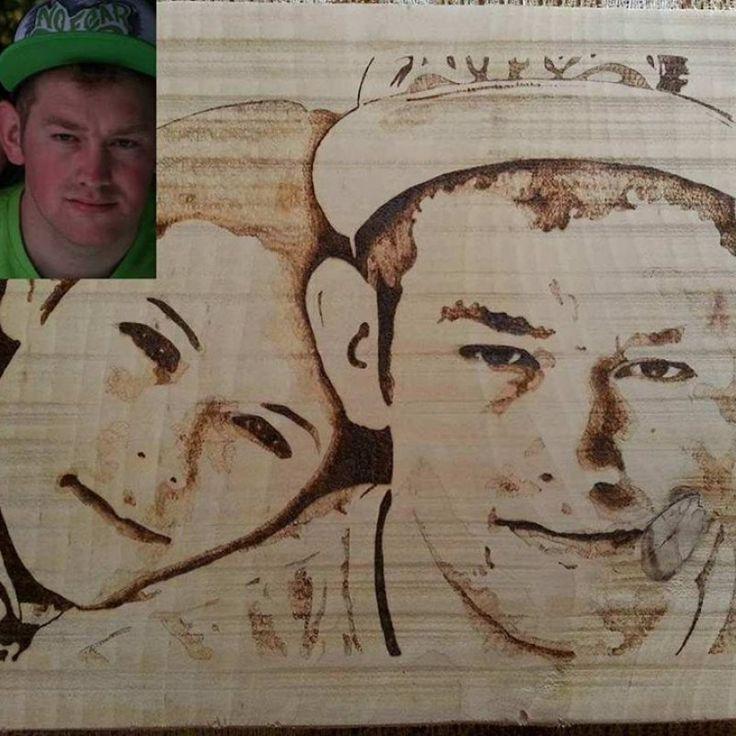Personalized wood portrait #homedecor #specialgift