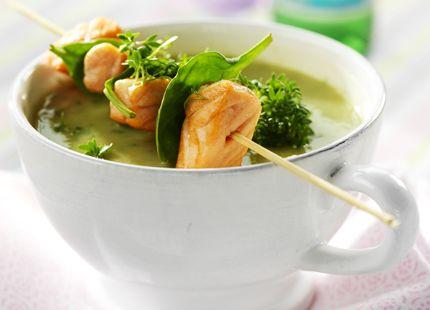 Soppa med laxbit