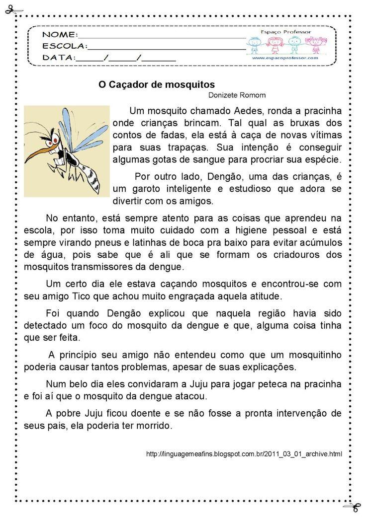 Espaço Professor: Sequência Didática Interdisciplinar (dengue, zica e chikungunya:) O Caçador De Mosquitos