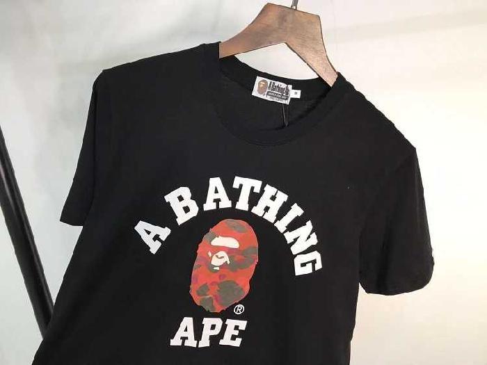 a29f25af3cb53 Cheap Bape Red Ape Head A Bathing Ape Black T-shirt and New Hoodies ...