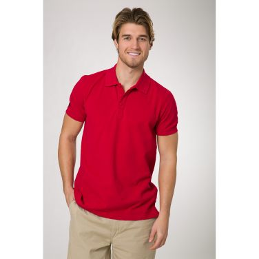 Crew Polo.  This cotton crew polo shirt has a logo placement designed to make it easy to add your own company or team logo in order to create a unique look for your team.
