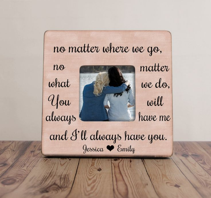 No Matter Where We Go Best Friend Picture Frame, Best Friends Picture – 2 Chicks & a Basket