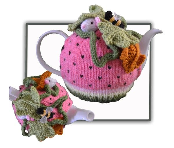 Quick & easy to make this 4-6-cup Tea Pot Cosy, called Watermelon Mouse Tea Cosy Pattern Not only make it for yourself, but what a lovely birthday or special gift to someone, especially if they have everything or you have run out of idea what to give! Bas ♡