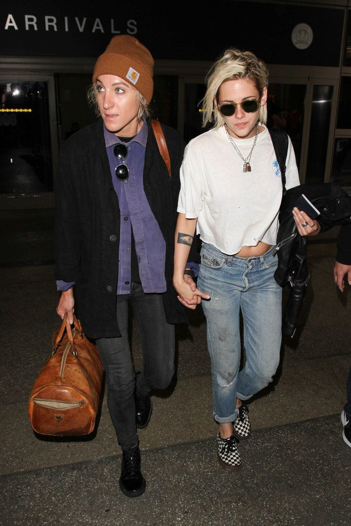 Kristen Stewart and Alicia Cargile Hold Hands After Returning Stateside From Cannes