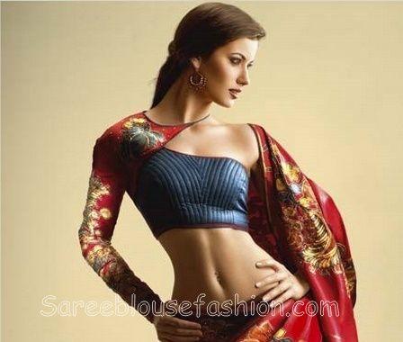 One Shoulder Saree Blouse – SareeBlouseFashion.com