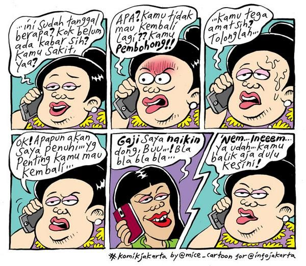 Mice Cartoon, Komik Jakarta Agustus 2014: Ratapan Usai Lebaran