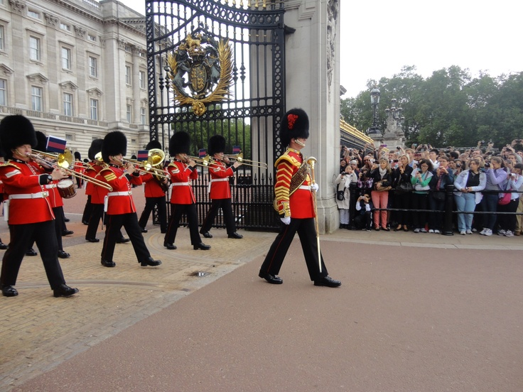 Changing of the guards at Buckingham Palace, London