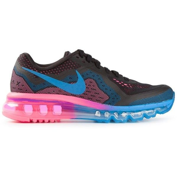 Nike Airmax 2014 Sneakers ($270) ❤ liked on Polyvore featuring shoes, sneakers, 19. shoes., 18. shoes., 17. shoes., laced shoes, rubber sole shoes, pink and black sneakers, nike footwear and nike trainers