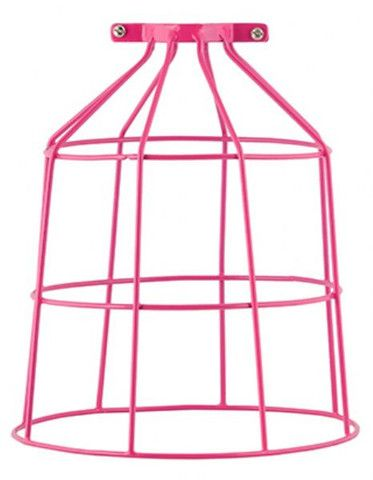 Bird Cage Wire Light Shade Hot Pink