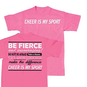 NEW and IN STOCK! Cheer Is My Sport T-Shirt by Cheerleading Company