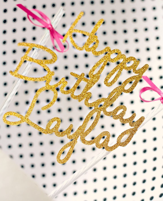 Glitter Cake Toppers by VanessaGrantEvents on Etsy, $12.00