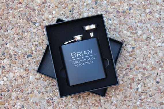 Groomsmen Gift, Flask Gift Set - Personalized Flask, Engraved Flask, Hip Flask - Gift for Groomsmen, Best Man Gift $14.50