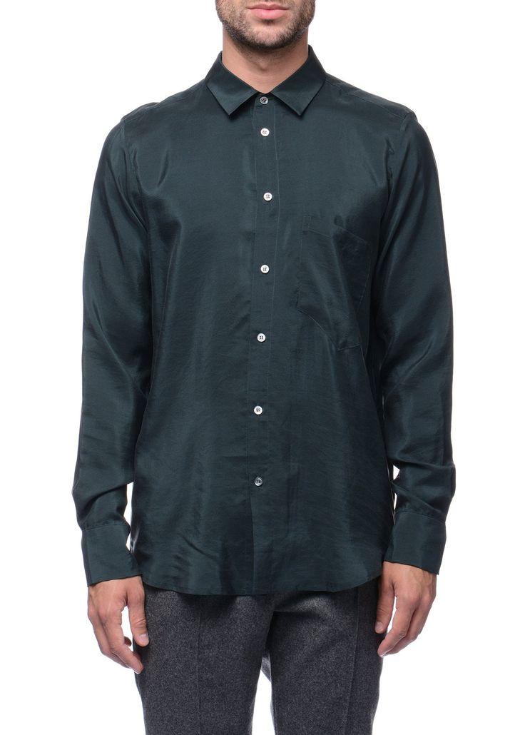Federico Curradi - FW16- Menswear // Green shirt in silk