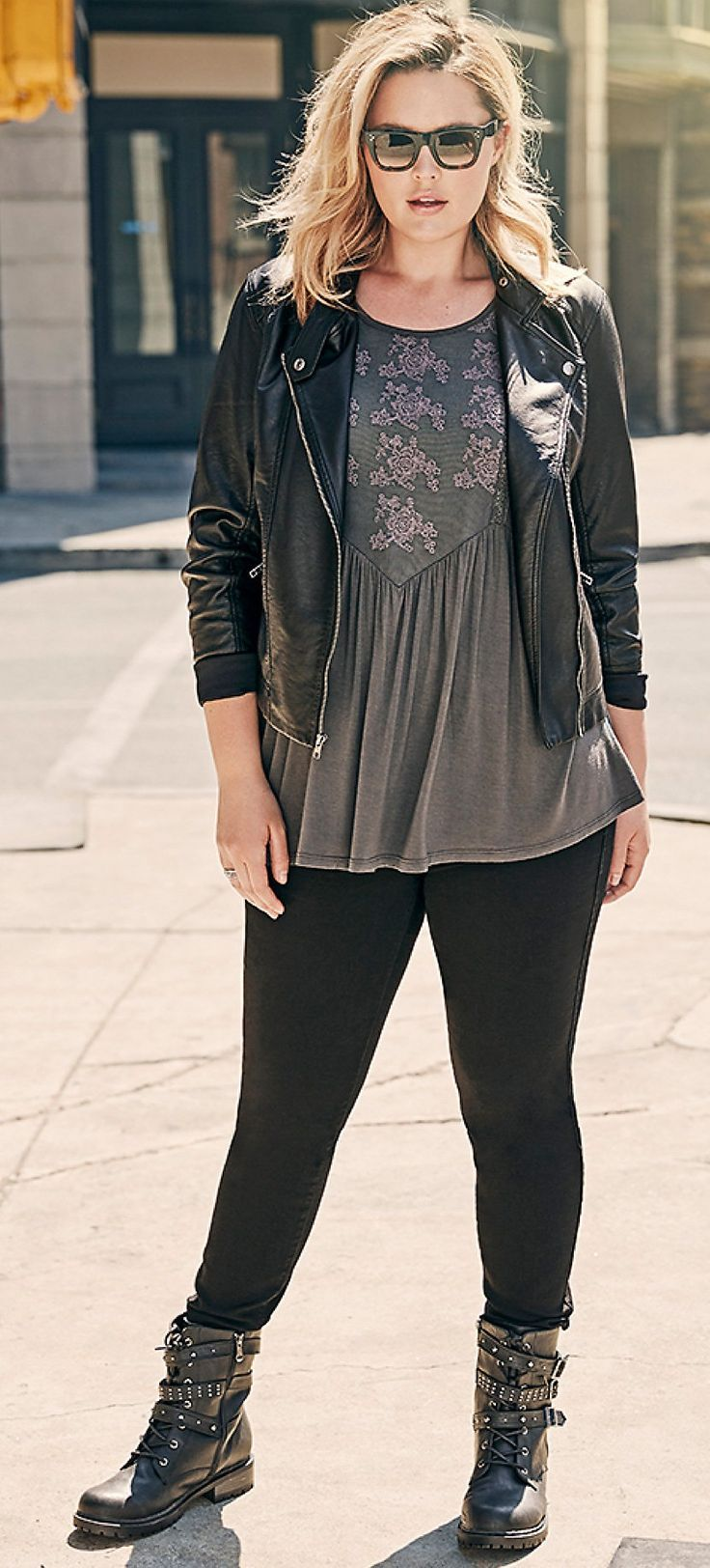 Plus Size Outfit - Shop the Look {affiliate link}                                                                                                                                                                                 More