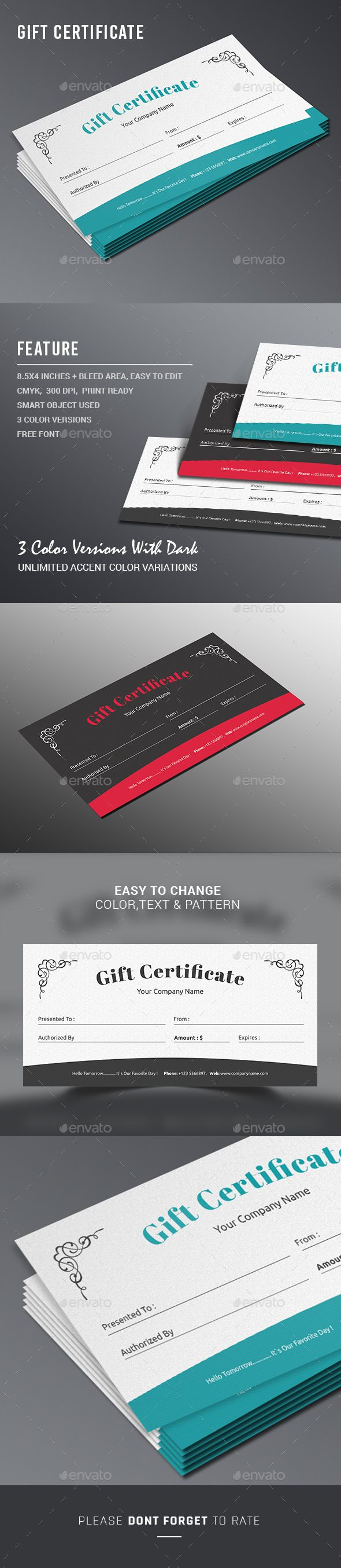 18 best gift certificate images on pinterest infographic gift certificate psd design i certificate templates for multipurpose usage i download https yelopaper Choice Image