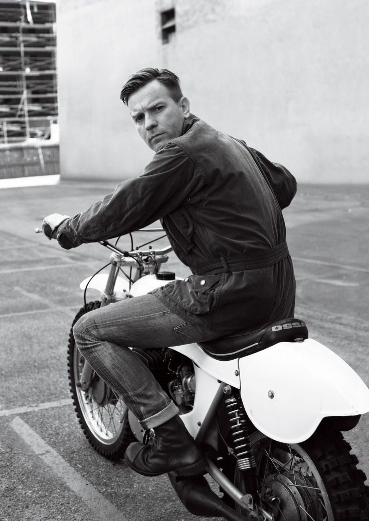 Ewan McGregor is quite possibly the biggest proponent of motorcycling..BMW 12000GS...Charlie Boorman...Moto Guzzi's...vintage trials bikes...Ossa 2-stroke.