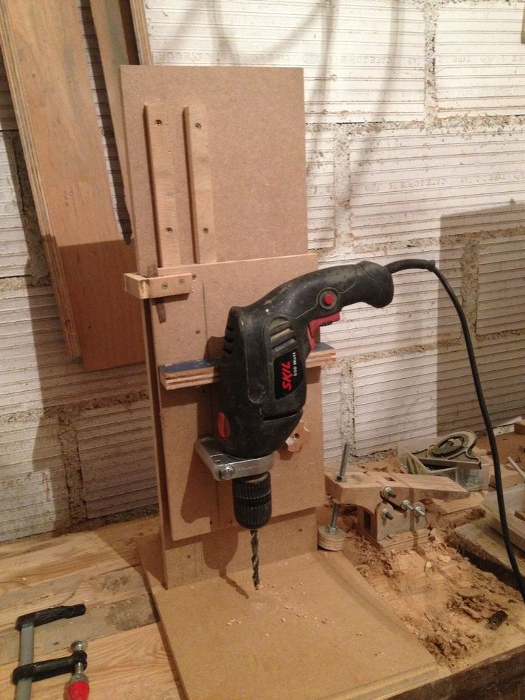 diy drill press / perceuse a colonne fait maison