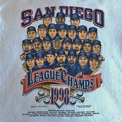 San Diego Padres Vintage 1998 National League Champions World Series MLB T-Shirt