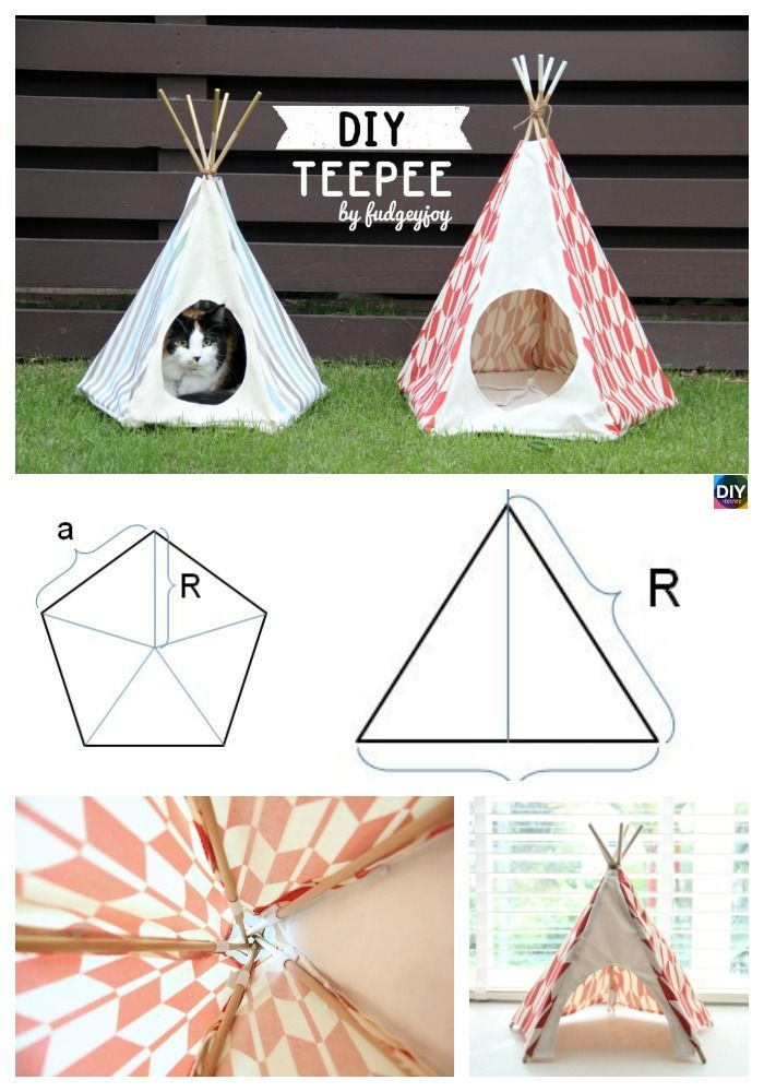 diy4ever DIY Teepee Tutorial with Any Size