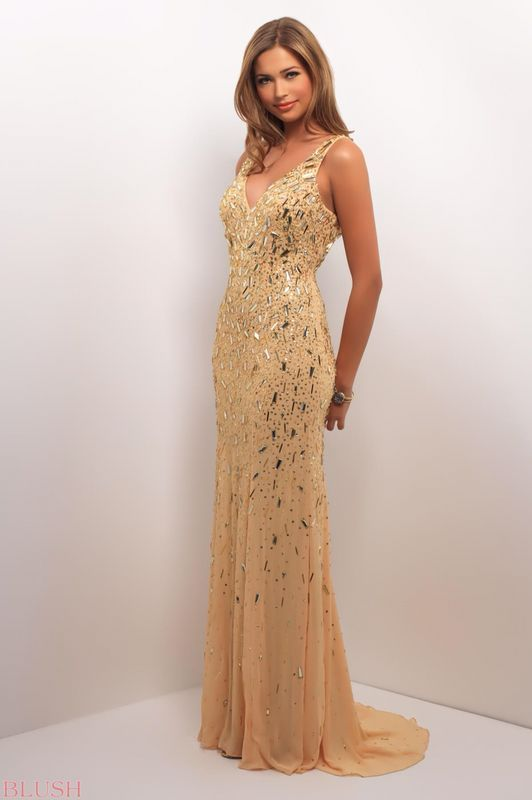 Best 18 Prom Dress~ Gold images on Pinterest | Party wear dresses ...