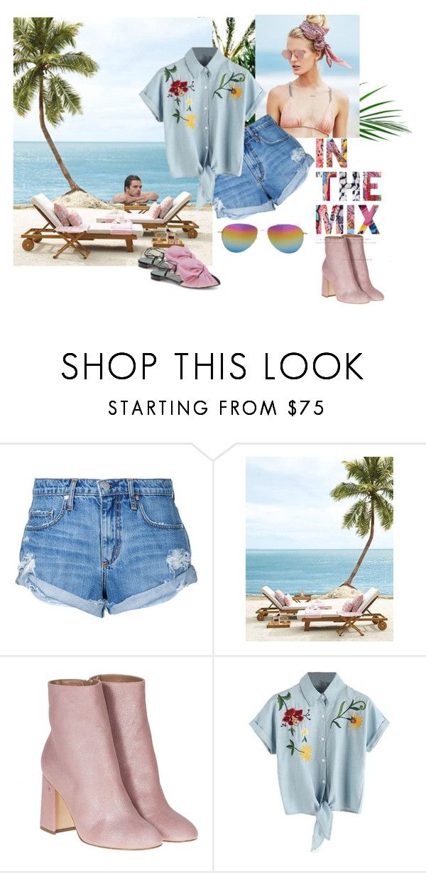 """Casual fashion"" by dijana1786 ❤ liked on Polyvore featuring Beach Riot, Nobody Denim, Laurence Dacade and Sebastian Professional"