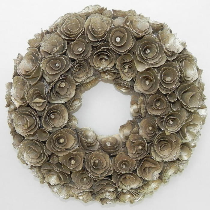 Shaved wood floral wreaths