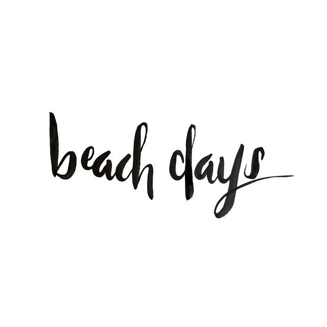 Beach days are here to stay.