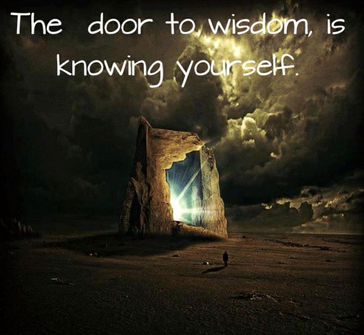 Spirituality - The door to wisdom is knowing yourself. & 156 best Spiritual Healing images on Pinterest | Spirituality ...