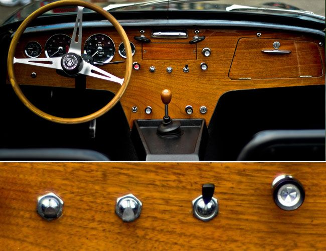 "Cockpit, 1960s Lotus Elan - beautiful in its simplicity (""Everything you need and nothing you don't"")"