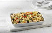 Mazi ta fagame: Καστανό ρύζι με ψιλοκομμένα λαχανικά στο φούρνο