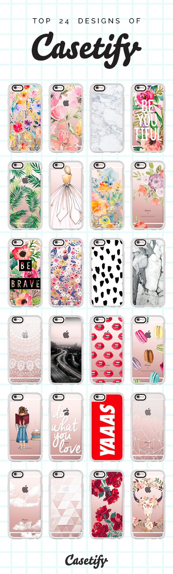 Which one is your favourite out of our Top 24 Designs? Click through to see more top iPhone 6 case designs of Casetify >>> https://www.casetify.com/collections/top_100_designs#/ | @casetify