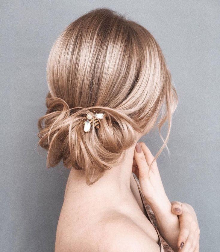 Elegante Prom Updo Hochzeitsfrisuren für mittellanges Haar – HairStyles