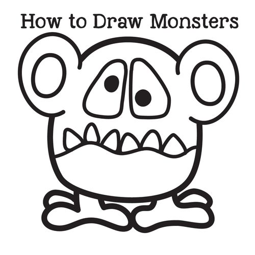 how to draw monstur hiv